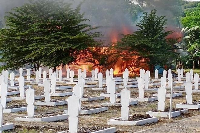 Kebakaran di Kompleks Taman Makam Pahlawan, 1 Rumah Terbakar