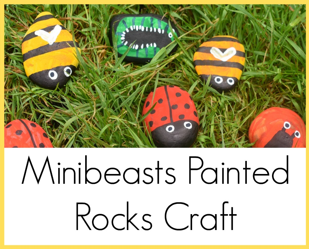 Minibeasts Painted Rocks Craft