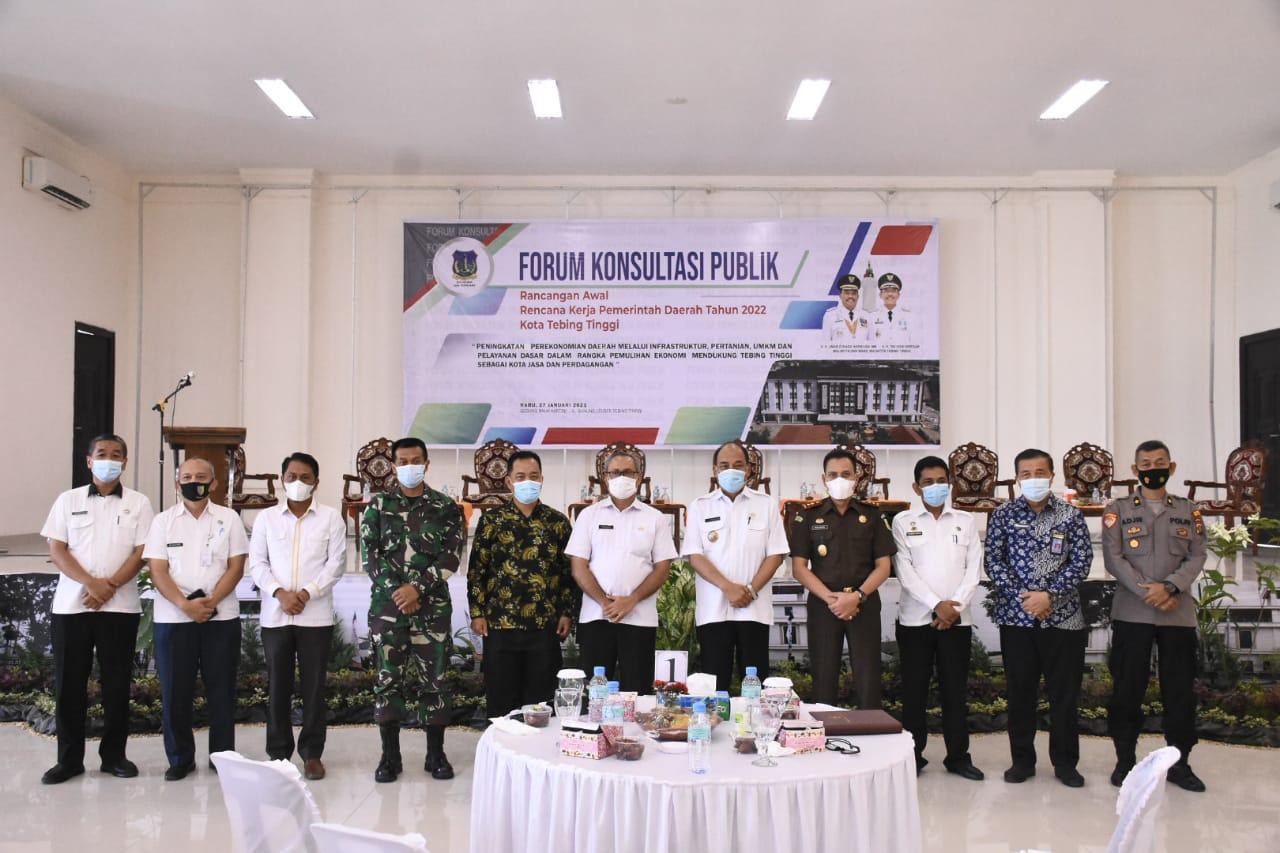 Pemko Tebingtinggi Gelar Forum Konsultasi Publik Bahas RKPD Tahun 2022