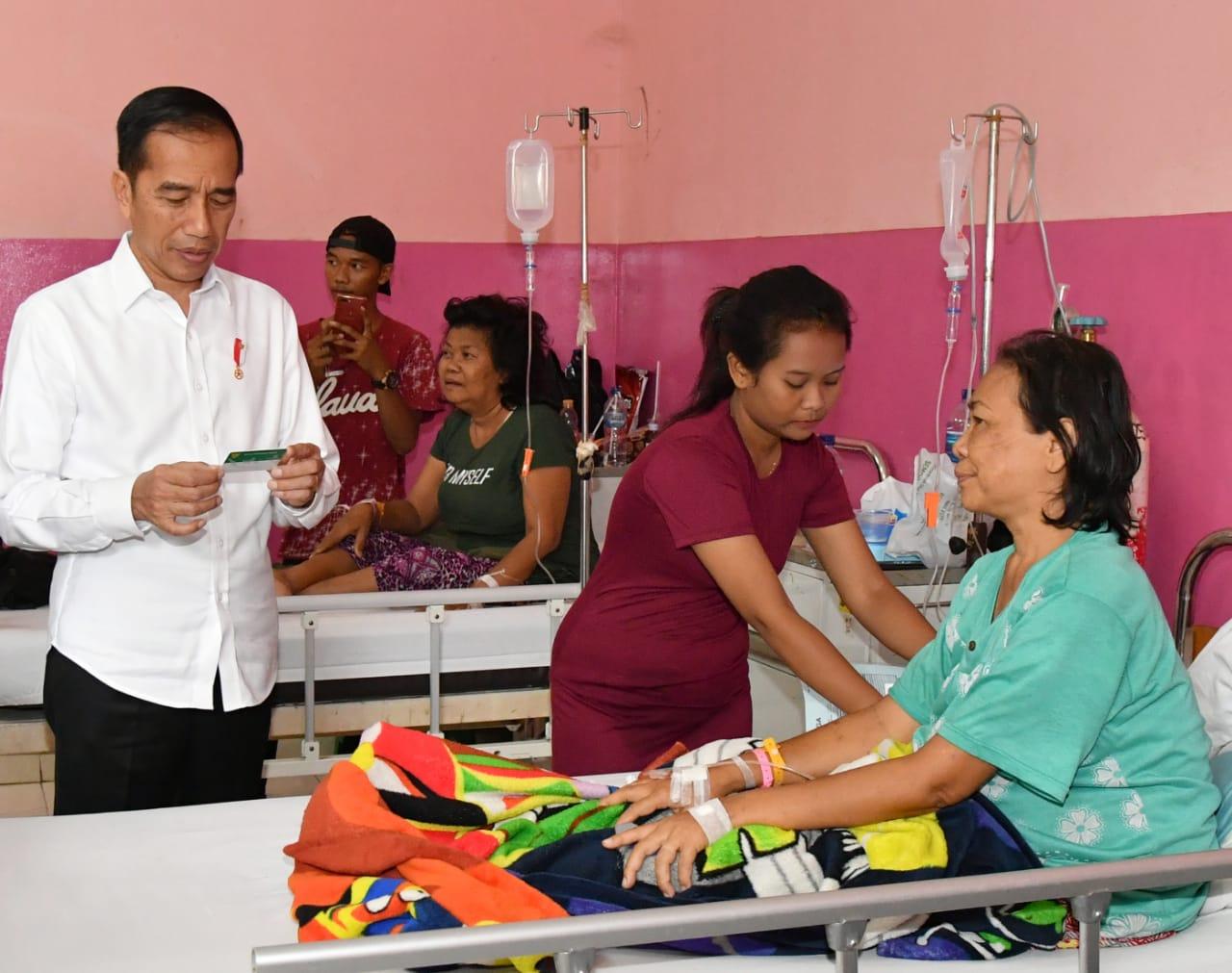 Presiden Sidak Layanan BPJS Kesehatan di RSUD Kota Cilegon