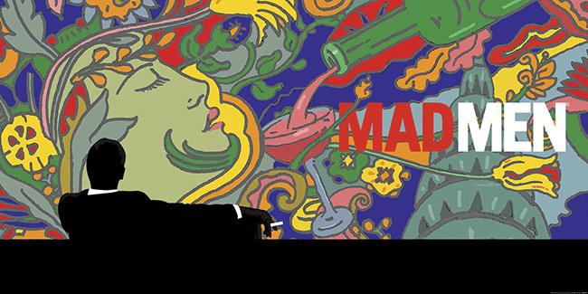Mad Men, un homenaje al estilo gráfico de Milton Glaser.