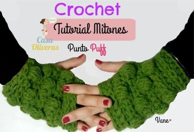 Tutorial Mitones o Guantes sin Dedos en Punto Garbanzo a Crochet