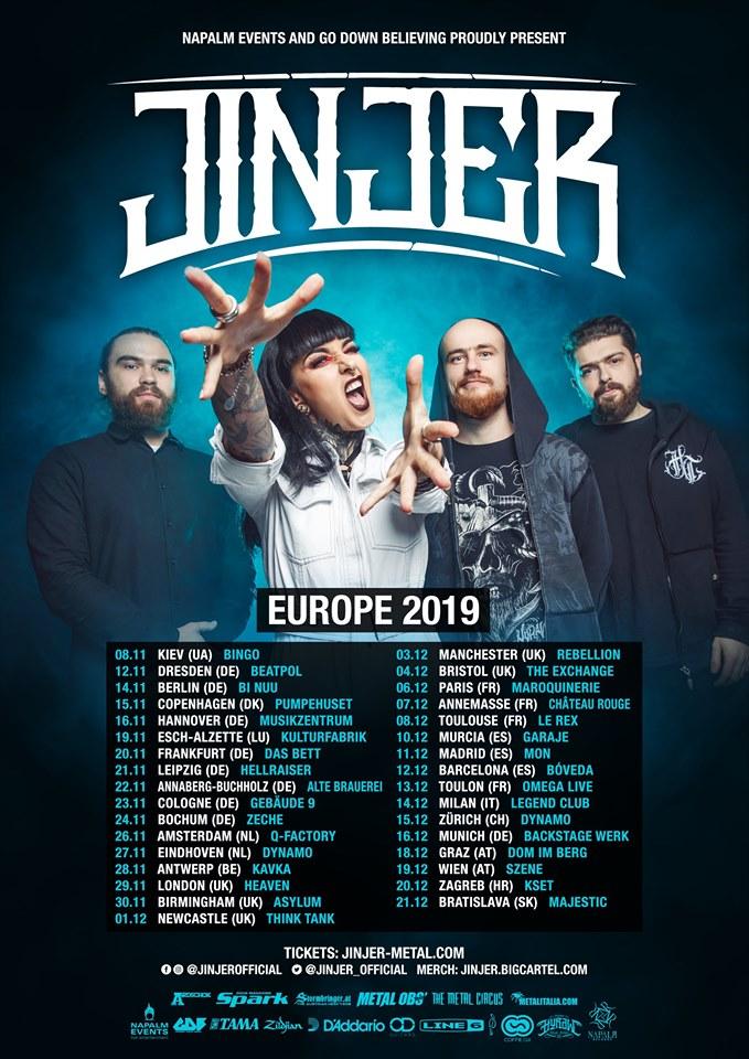 JINJER EUROPEAN TOUR