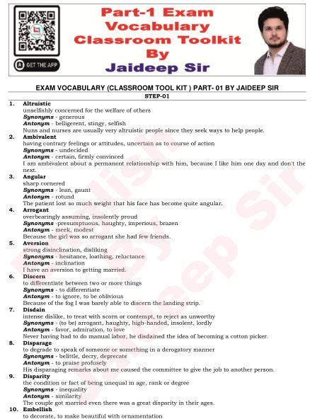 Jaideep Sir English Practice : for All Competitive Exams