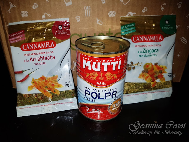Especias Cannamela Tomate triturado Mutti Caja Degustabox - Septiembre ´17