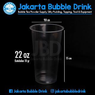 jua gelas plastik polos 22 oz untuk dum dum thai tea
