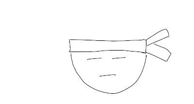 アイコン 「勉強」 (作: 塚原 美樹) ~ ハチマキを描く