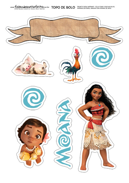 picture relating to Moana Printable titled Moana Boy or girl: Free of charge Printable Cake Toppers. - Oh My Child!