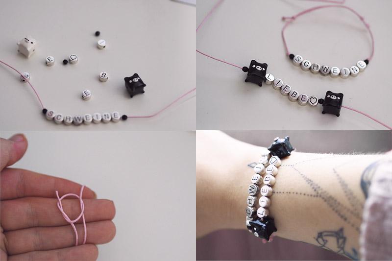 KuneCoco • Armbänder aus Buchstabenperlen knüpfen • DIY your closet