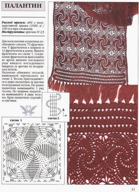 Patrones de Original diseño al crochet para esta bella estola