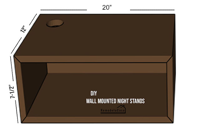 free plans to Mid-century modern wall mounted night stands