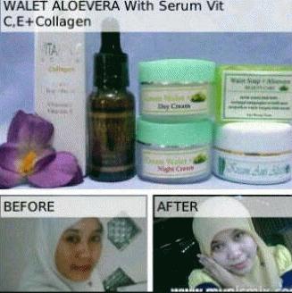 Paket Walet Aloevera Serum Vit C