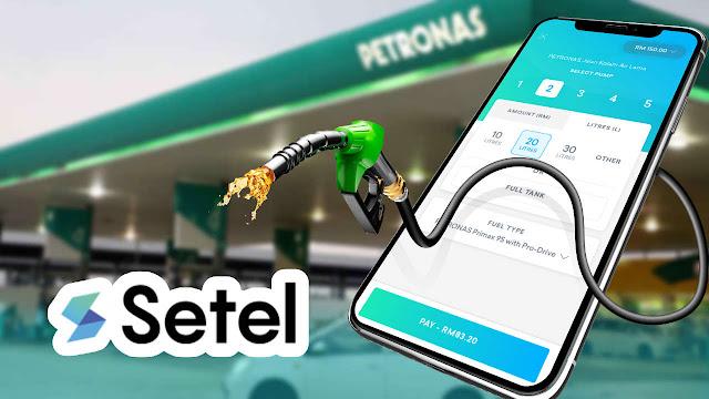 Cara Guna Aplikasi Setel Untuk Isi Petrol Di Petronas