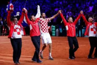Croatia emerge  victors of Davis Cup after Cilic beat Lucas Pouille 7-6 6-3,6-3 on Sunday afternoon in Lille.