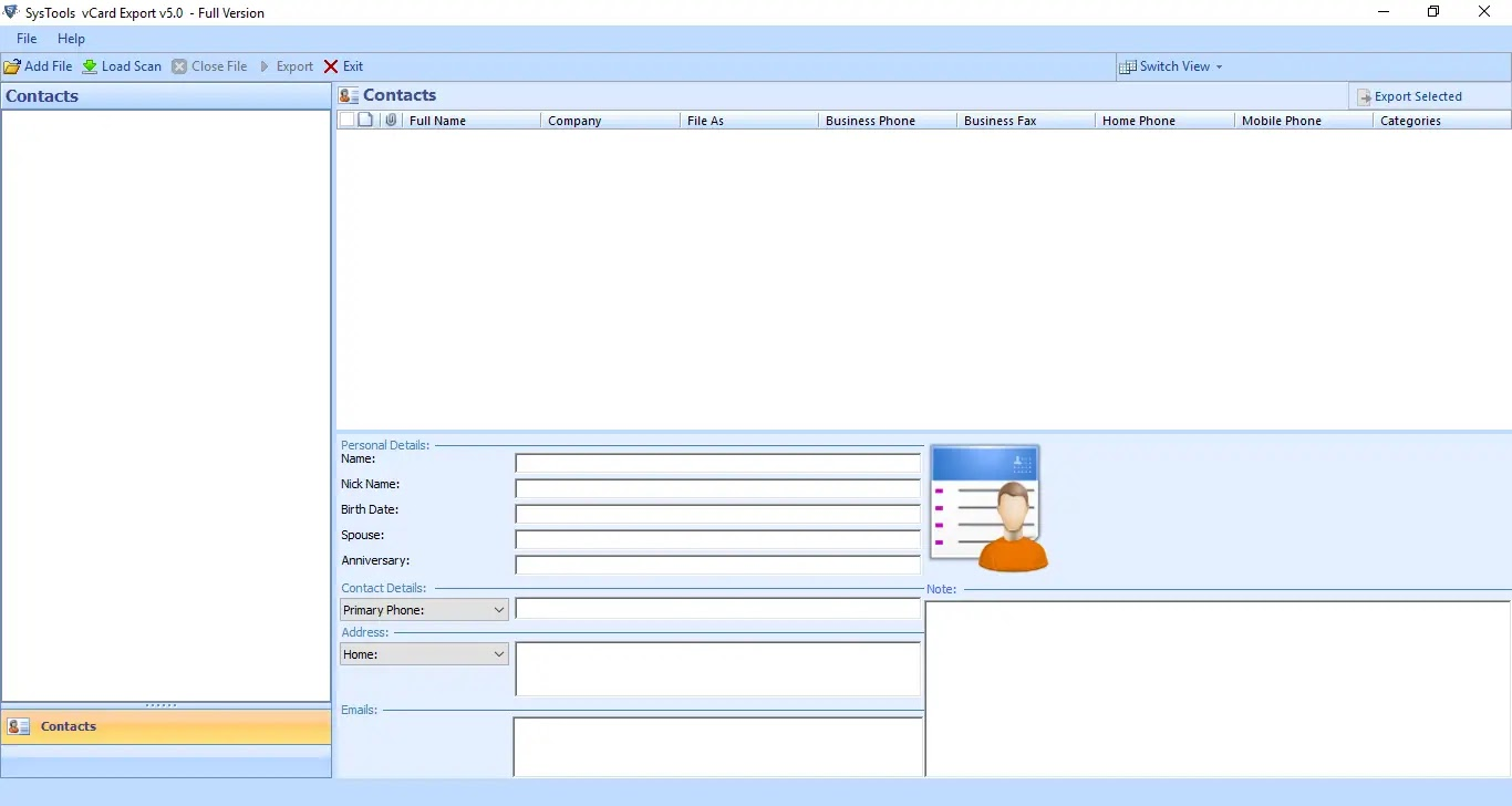 Export Roundcube Contacts to Outlook Step 3