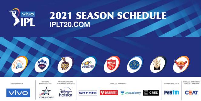 IPL 2021 Schedule : देखें आईपीएल का पूरा शेड्यूल पीडीएफ में, फाइनल मैच नरेंद्र मोदी स्टेडियम में होगा