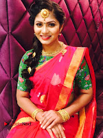 Telugu Actress Shruti Reddy Latest Poshoot Gallery in Red Silk Saree  0008.JPG