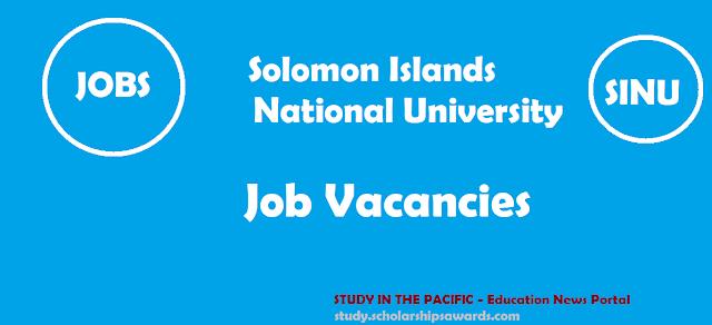 Solomon Islands National University Job Vacancies