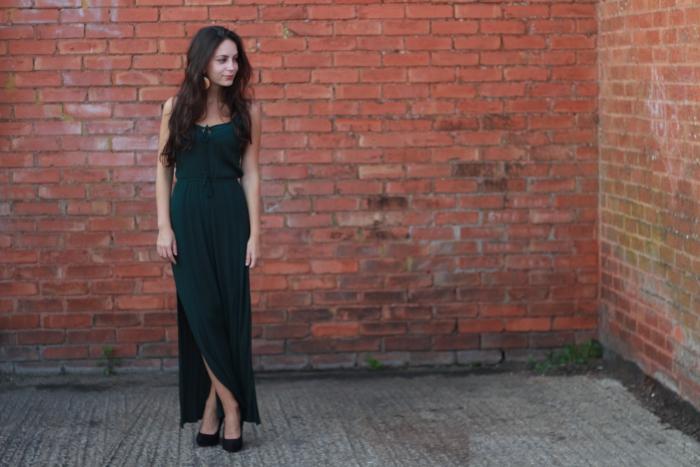 green maxi dress primark