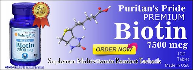 Jual Puritans Pride Premium BIOTIN Suplemen Rambut Original USA Harga Termurah