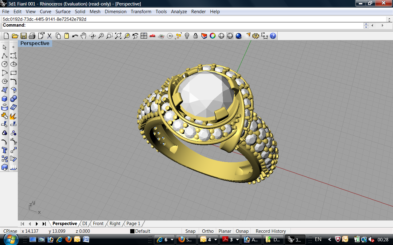 CHENNAI MATRIX RHINO GOLD JEWELLERY 3D CAD DESIGN ZBRUSH