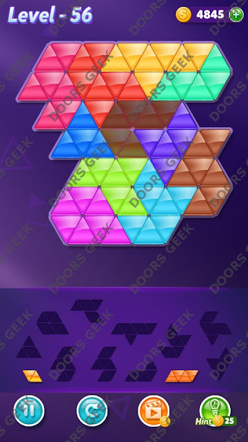 Block! Triangle Puzzle Grandmaster Level 56 Solution, Cheats, Walkthrough for Android, iPhone, iPad and iPod