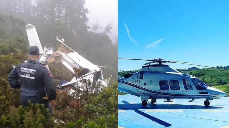 Tragédia: Corpo de Bombeiros localiza helicóptero que decolou de Itapira