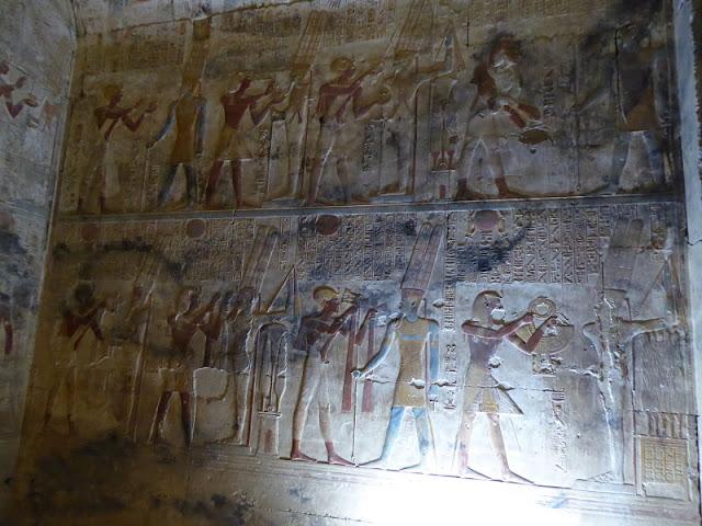 bassorilievo che raffigura il dio Min
