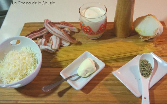 Espaguetis carbonara con nata - Como hacer nata para cocinar ...