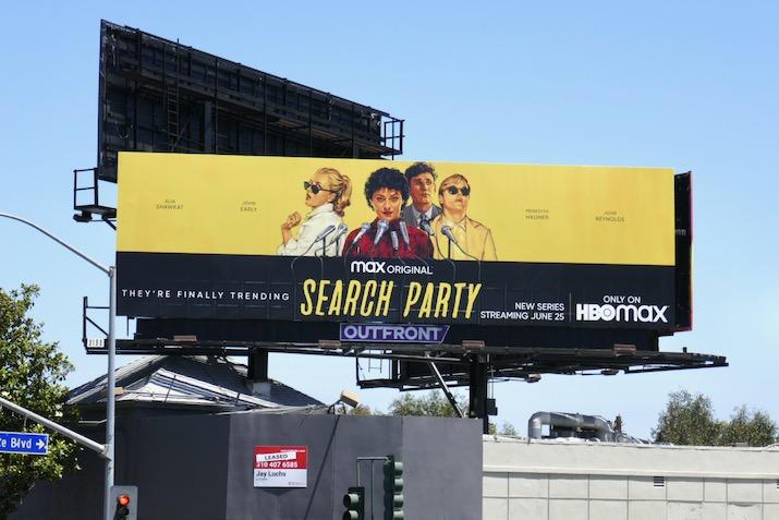 Search Party season 3 billboard