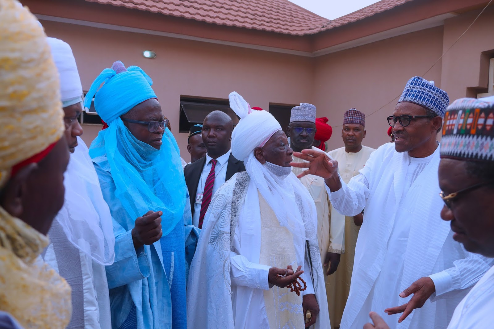 President Buhari in condolence visit to Late