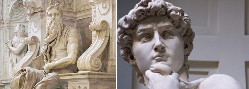 Il Mosè e il David, Michelangelo