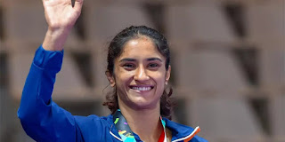 1- Vinesh Phogat becomes first Indian wrestler to qualify for 2020 Tokyo Olympics