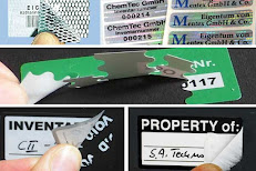 Aufkleber für Eigentum und Inventar