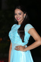 Pujita Ponnada in transparent sky blue dress at Darshakudu pre release ~  Exclusive Celebrities Galleries 078.JPG
