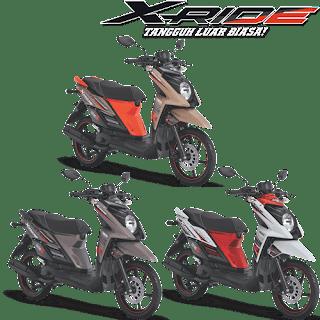 Pilihan Warna Motor Yamaha X-Ride terbaru