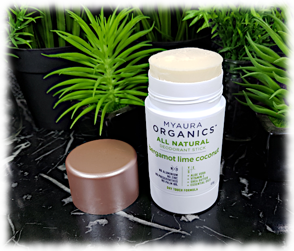 Myaura Organics All Natural Deodorant Stick - Bergamot Lime Coconut
