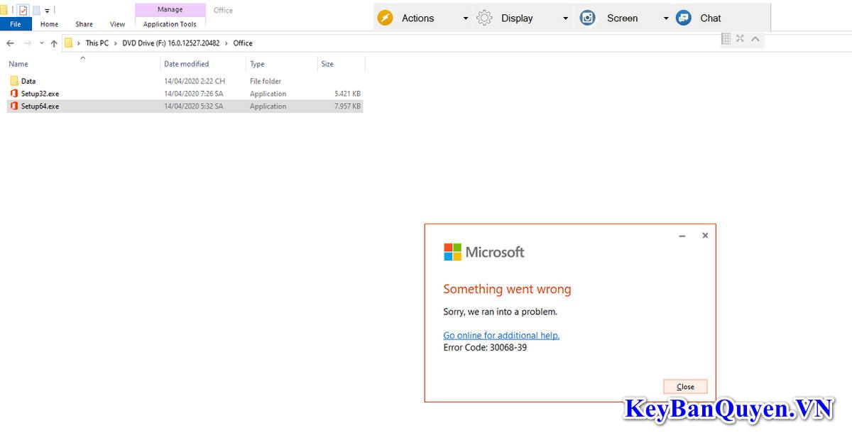 Hướng dẫn sửa lỗi : Sorry , we ran into a problem khi cài Microsoft Office 2016 , Office 365 và Office 2019 Pro Plus.