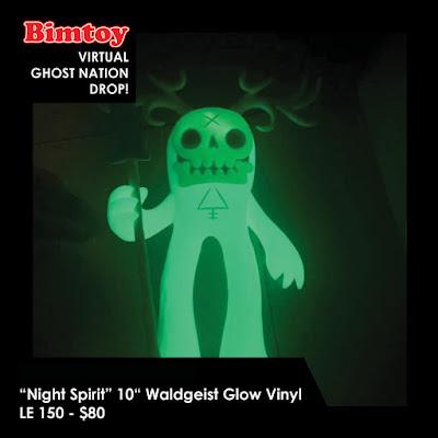 """New York Comic Con 2020 Exclusive """"Night Spirit"""" Waldgeist 10"""" Glow in the Dark Vinyl Figure by Reis O'Brien x Bimtoy x Bottleneck Gallery"""