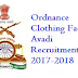 Ordnance Clothing Factory Avadi Recruitment 2017-2018 Notification www.ofbindia.gov.in