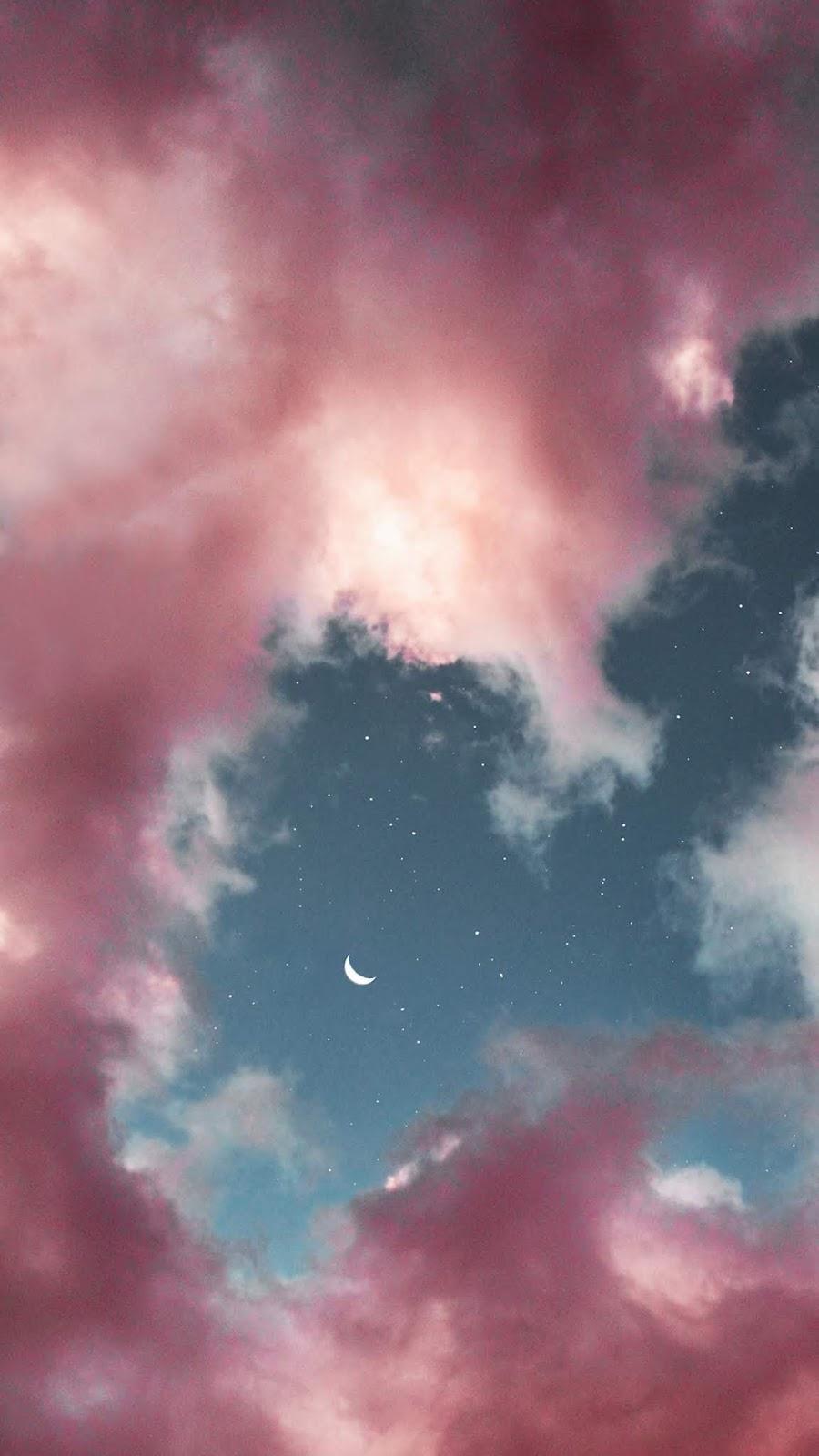 Trăng và sao trên bầu trời