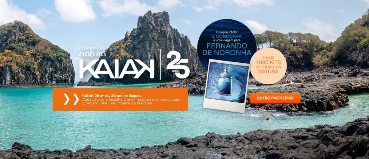 Promoção 25 Anos Natura Kaiak Perfume Viagens e Prêmios