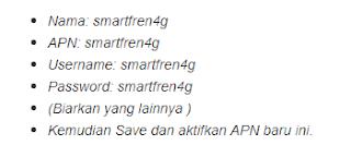 Cara Menggunakan Smartfren 4G/LTE di Semua HP GSM