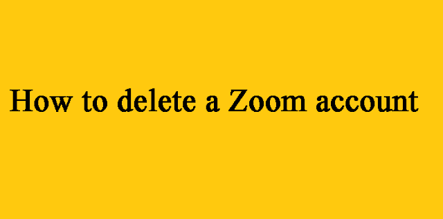 The article is written on how to delete a Zoom account