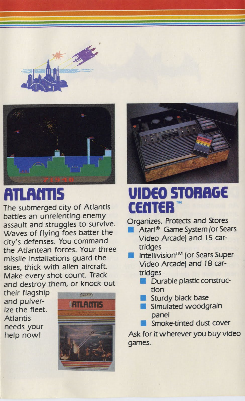 Gaming After 40: Cover to Cover: Imagic 1982 Catalog (pp  11-12)