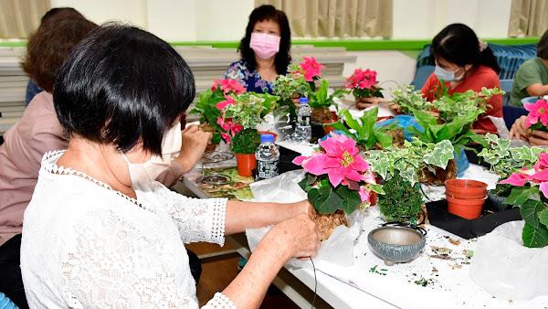 彰化縣綠美化園藝療癒 齊聚彰化市農會動手做盆栽