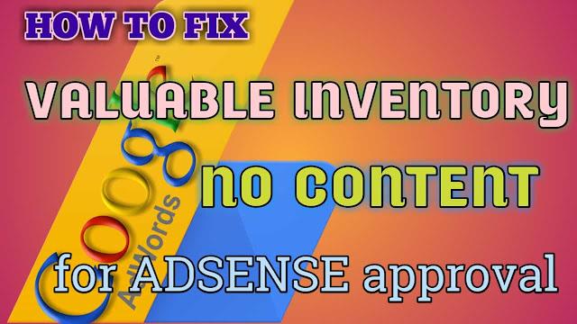 Fix valuable inventory, no content