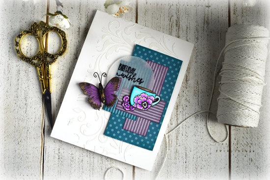 Birthday card by Julee Tilman using Verve Stamps. www.poeticartistry.blogspot.com