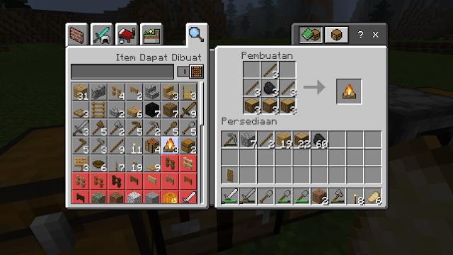 Cara Membuat Api Unggun di Minecraft