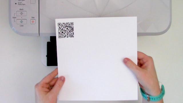 qr code, qr code craft, vinyl, printable adhesive vinyl, printable material